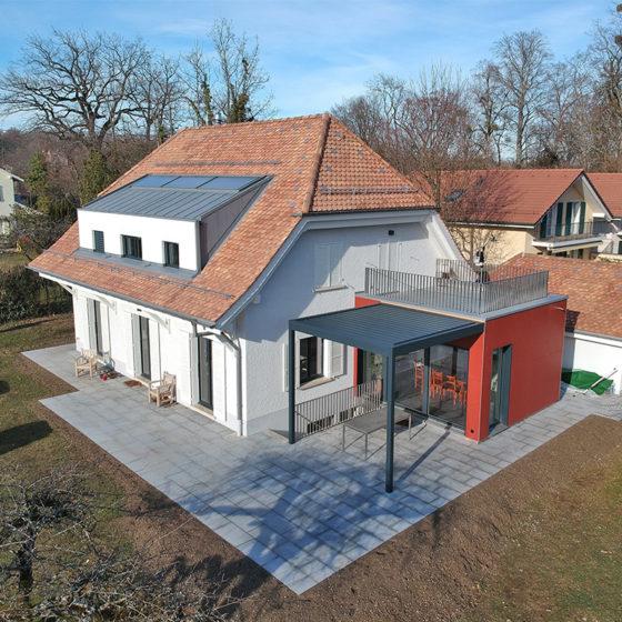 Rénovation d'une toiture & construction d'une extension